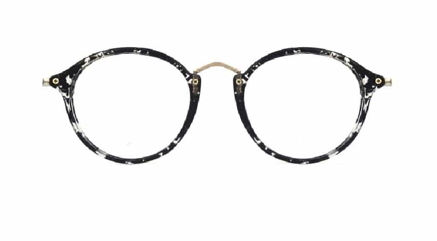 Black Round Glasses Sf 9857 4
