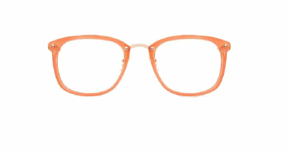 Orange Square Glasses Sf 9865 4
