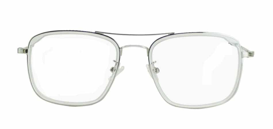 Silver Square Glasses 191116 4