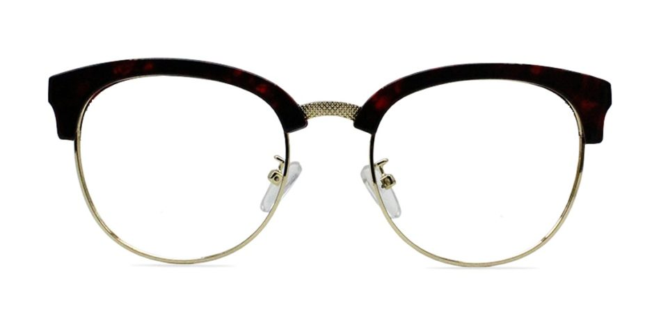 Red Tortoise Browline Glasses 200437 4