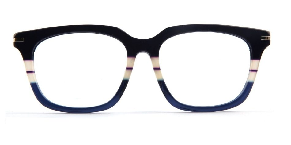 Blue Shunk Square Glasses 010826 4