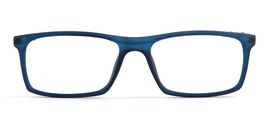 Blue Matte Square Glasses 010829 4