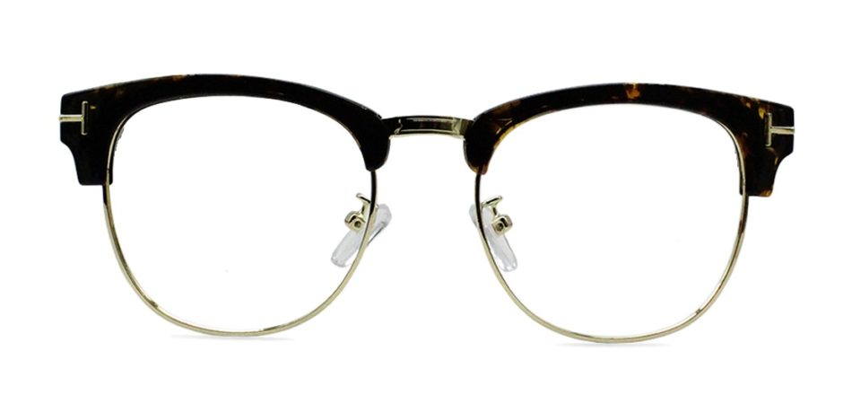 Brown Tortoise Browline Glasses 200435 4
