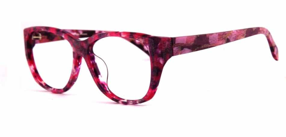 Cat Eye Pink-Red Glasses 310523 2