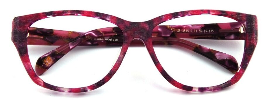 Cat Eye Pink-Red Glasses 310523 1