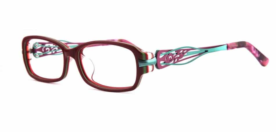 Purple Square Curve Glasses 3105245 3