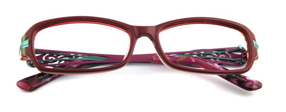 Purple Square Curve Glasses 3105245 1