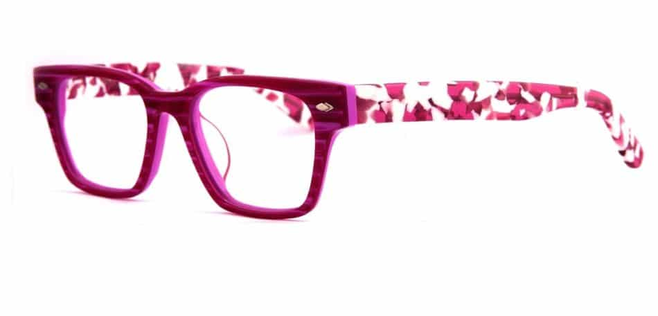 Square Pink-White Glasses 3105246 2