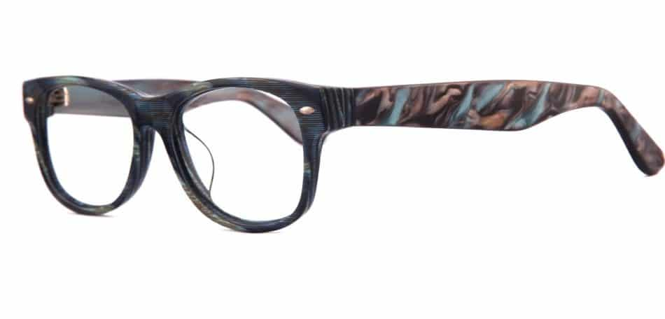Black Blue Textured Glasses 3105247 2