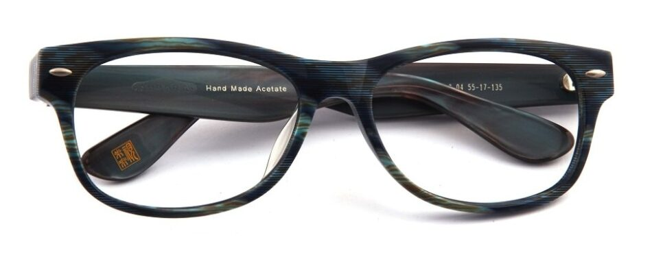 Black Blue Textured Glasses 3105247 1