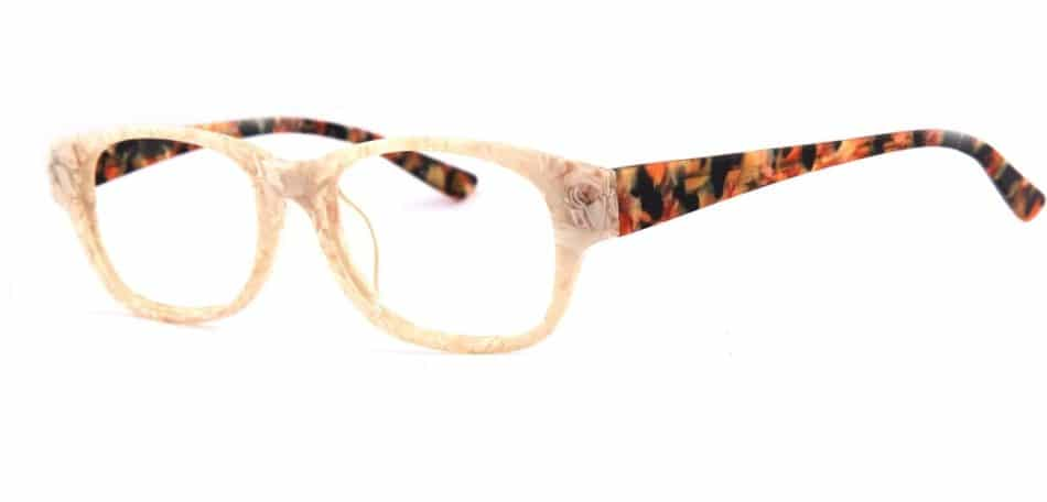 Creamy Rectangle Glasses 31052412 2