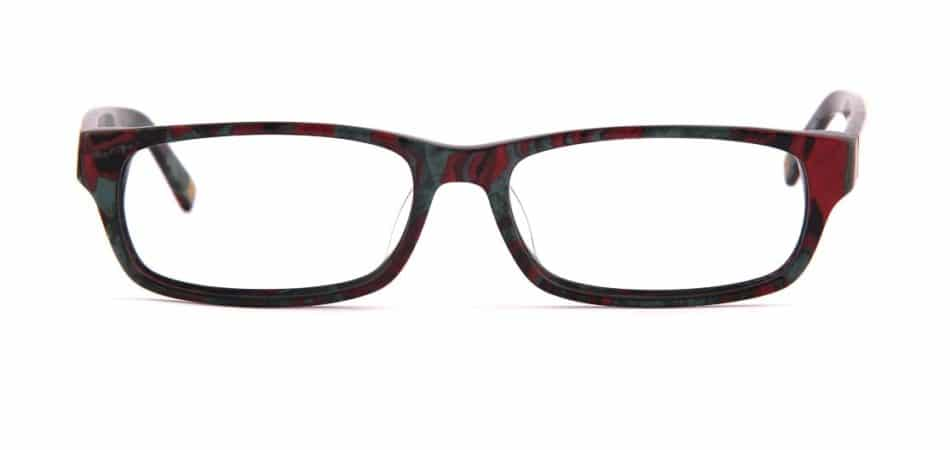 Maroon Rectangle Glasses 310577 3