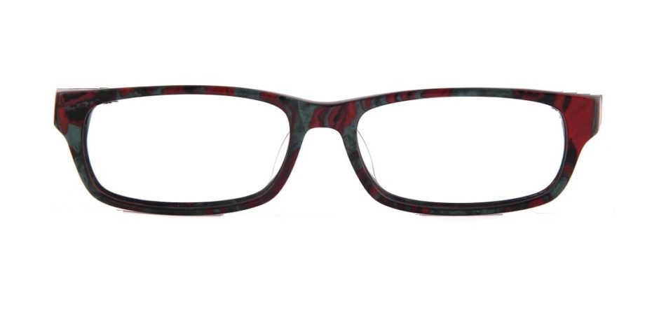Maroon Rectangle Glasses 310577 4