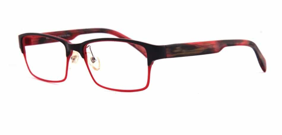 Red Black Rectangle Glasses 31052414 2