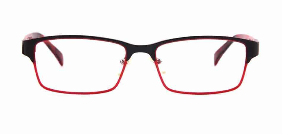 Red Black Rectangle Glasses 31052414 3