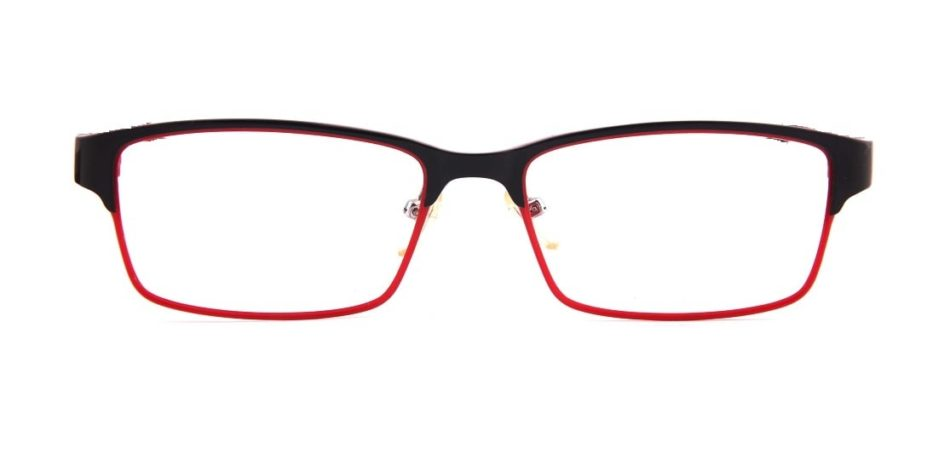 Red Black Rectangle Glasses 31052414 4