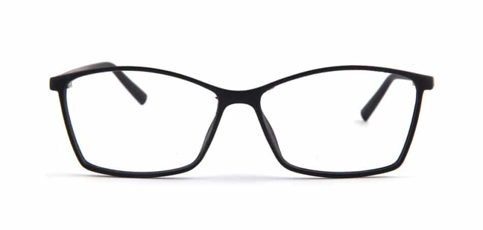Black Rectangle Glasses 130732 1