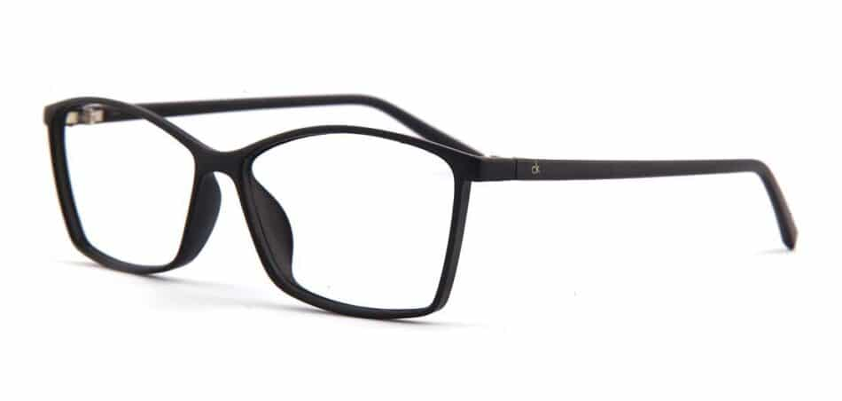 Black Rectangle Glasses 130732 2