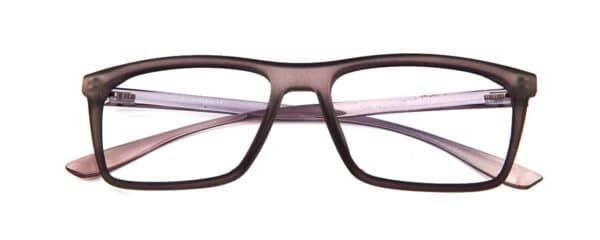 Rectangular brown glasses