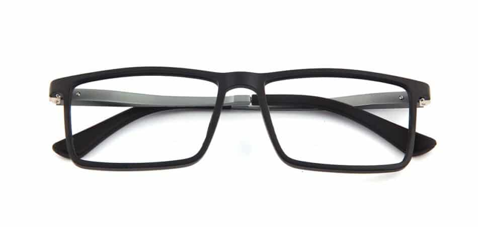 Black Rectangle Glasses 130742 1