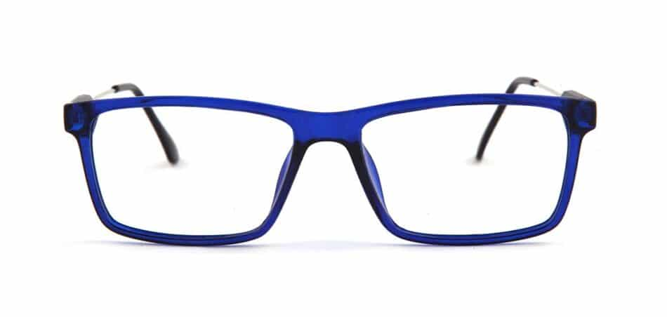 Blue Rectangle Glasses 130725 1