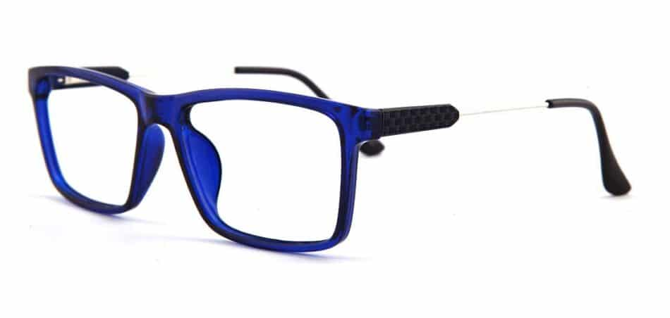 Blue Rectangle Glasses 130725 2