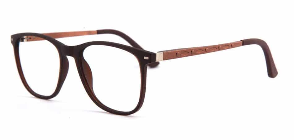 Brown Rectangle Glasses 130728 2