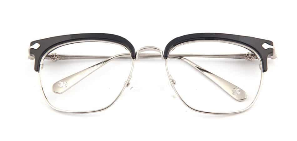 Black Browline Square Glasses 130747 1