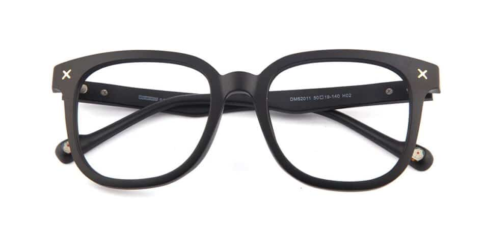 Black Square Glasses 130748 1
