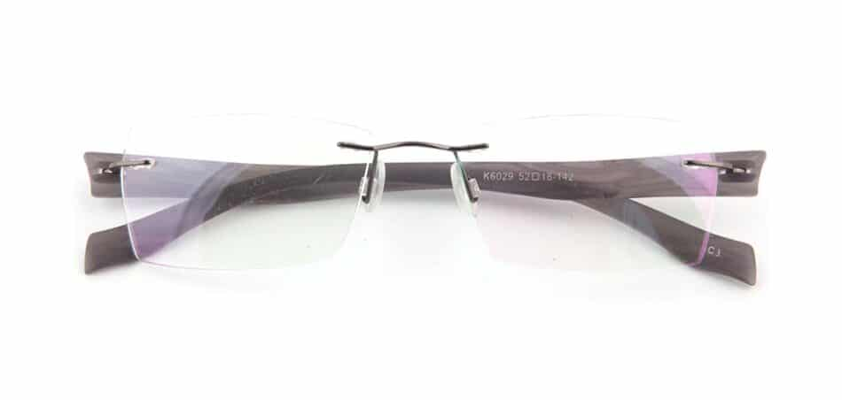 Black Plastic Rimless Glasses 130749 1