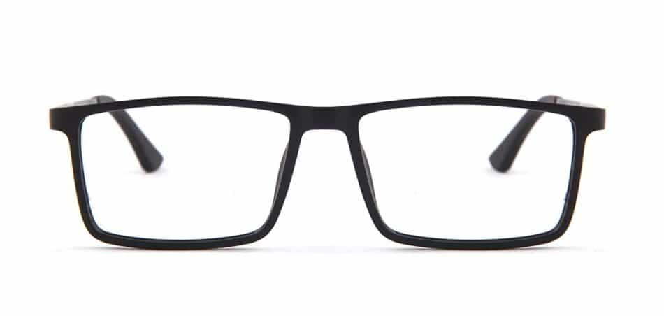Black Rectangle Glasses 130742 3