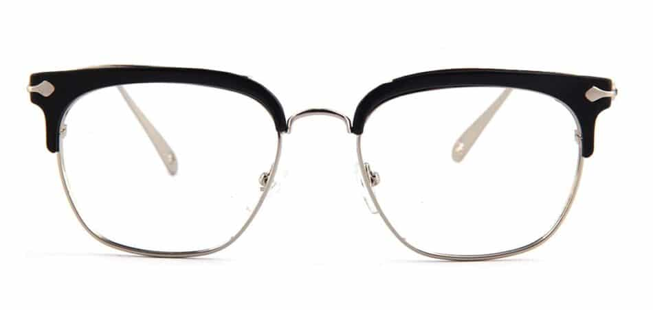 Black Browline Square Glasses 130747 3