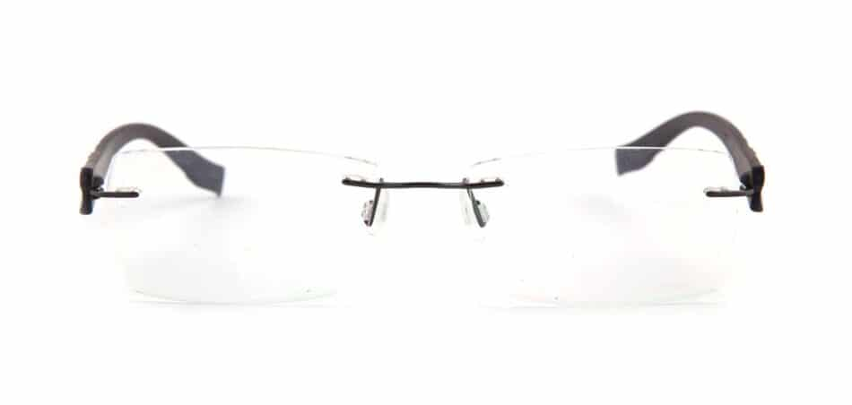 Black Plastic Rimless Glasses 130749 3
