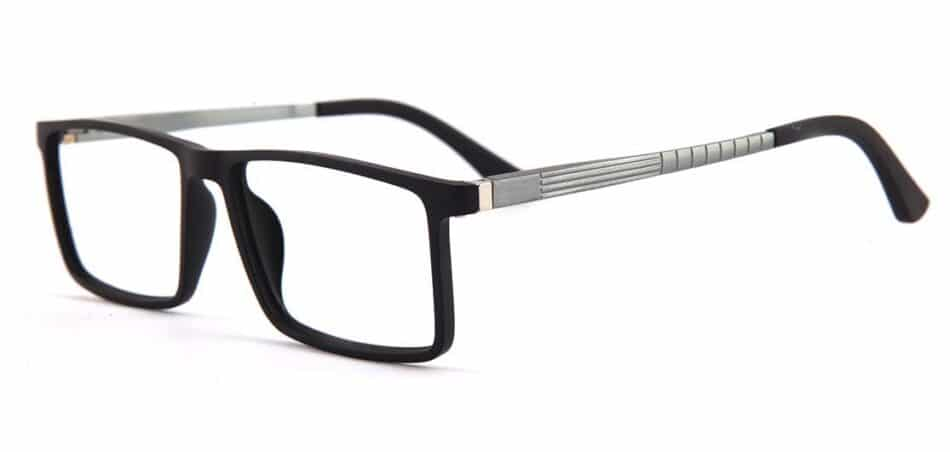 Black Rectangle Glasses 130742 2