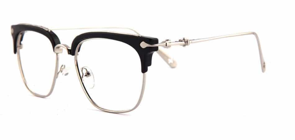 Black Browline Square Glasses 130747 2