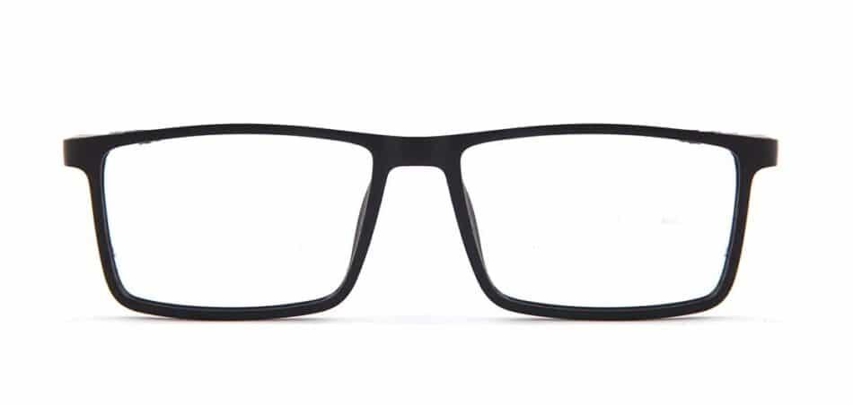 Black Rectangle Glasses 130742 4