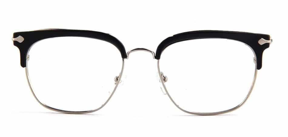 Black Browline Square Glasses 130747 4