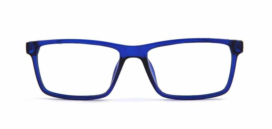 Blue Rectangle Glasses 130725 3