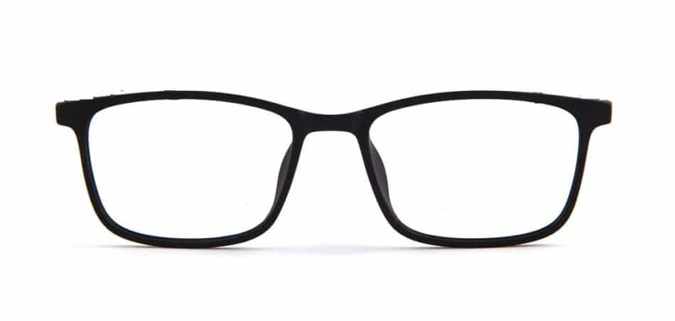 Black Rectangle Glasses 130727 3