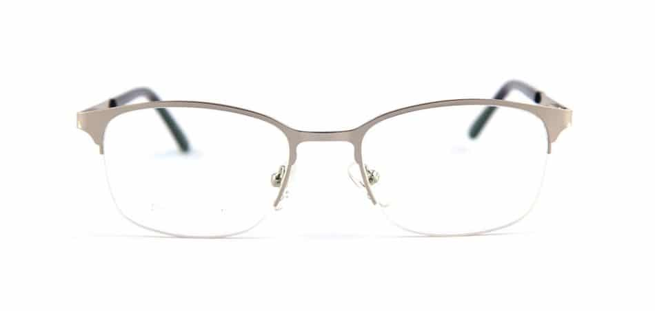Silver Half Rimless Glasses 80421 2