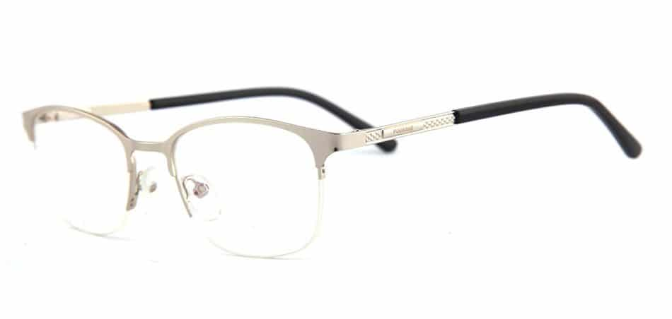 Silver Half Rimless Glasses 80421 3