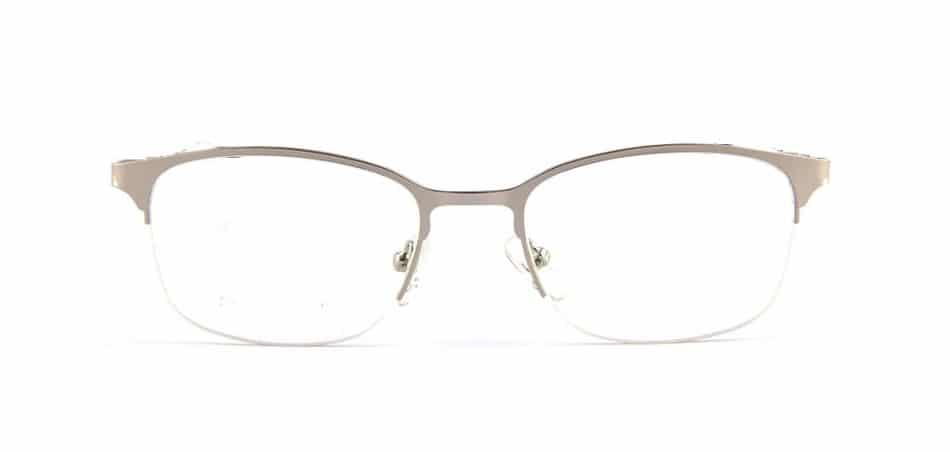 Silver Half Rimless Glasses 80421 4
