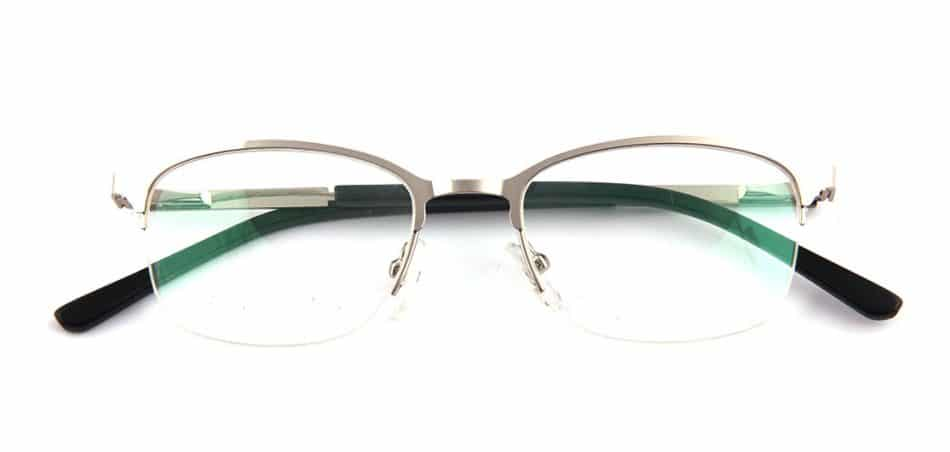 Silver Half Rimless Glasses 80421 1