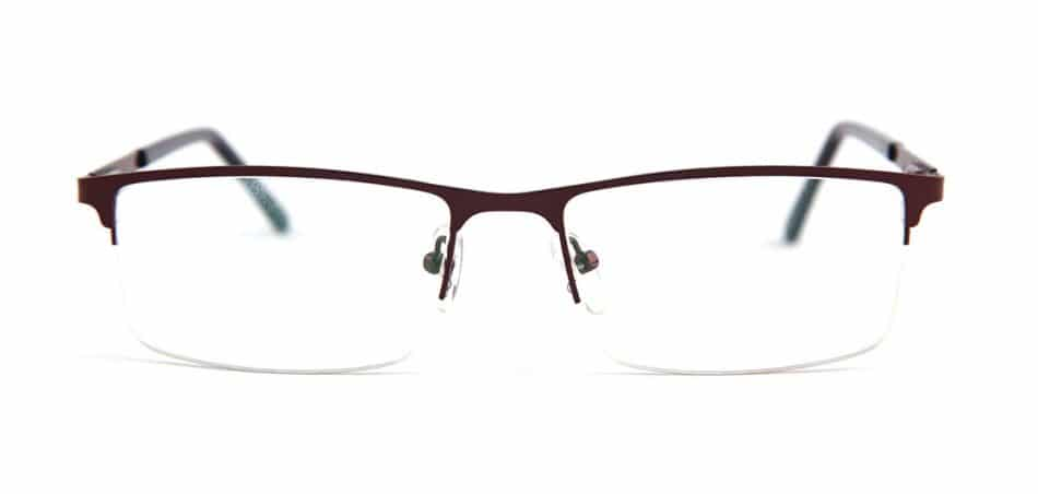 Brown Rectangle Glasses 100422 2