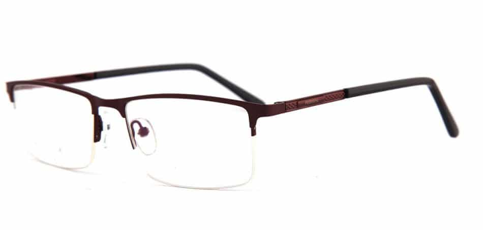 Brown Rectangle Glasses 100422 3