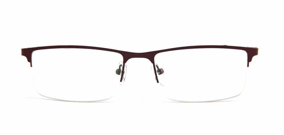 Brown Rectangle Glasses 100422 4