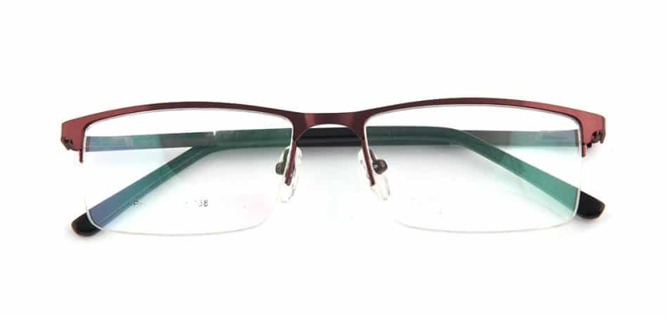 Brown Rectangle Glasses 100422 1