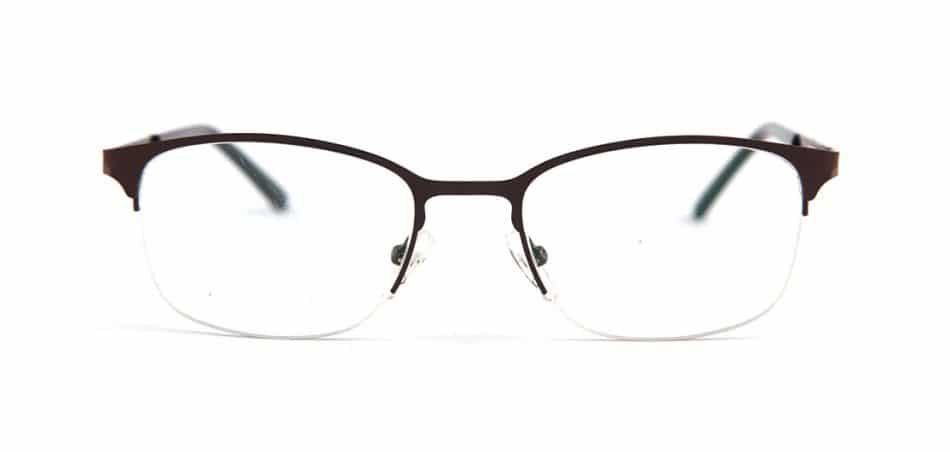Brown Half Rimless Glasses 80422 2
