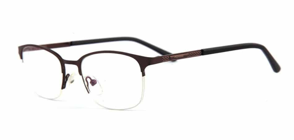 Brown Half Rimless Glasses 80422 3