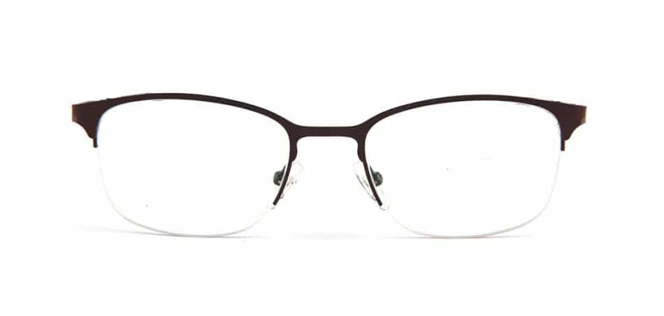 Brown Half Rimless Glasses 80422 4